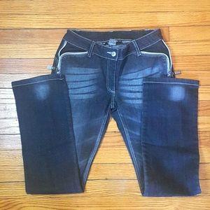 Bianca Nygard black Jean's zipper details SZ 4P
